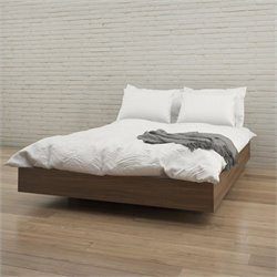 Queen Size Platform Bed in Walnut