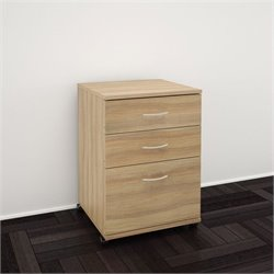 3-Drawer Mobile Filing Cabinet in Biscotti