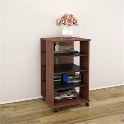 Mobile Storage Tower in Moka and Black
