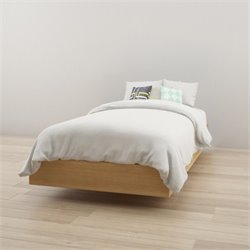 Twin Platform Bed in Maple