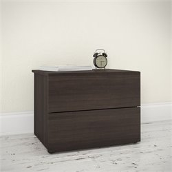 2 Drawer Nightstand in Ebony
