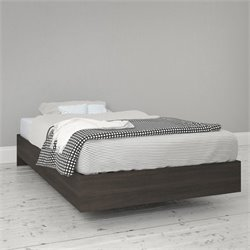 Twin Size Platform Bed in Ebony