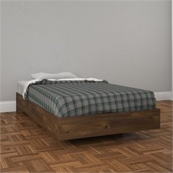 Twin Size Platform Bed in Truffle