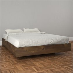 Full Size Platform Bed in Truffle