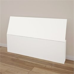 Queen Size Headboard with Storage in White