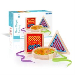 Guidecraft Manipulatives Geo Shape Lacing