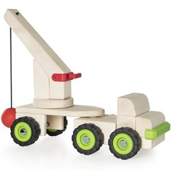 Guidecraft Big Block Wrecking Ball Truck
