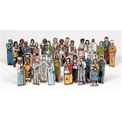 Guidecraft Wooden Complete Career ID Kit (Set of 30)
