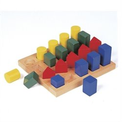 Guidecraft Hardwood Colored Geo Forms