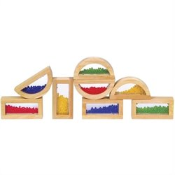 Guidecraft Hardwood Rainbow Blocks - Crystal Bead