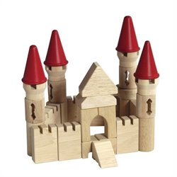 Guidecraft Hardwood Table Top Castle Blocks