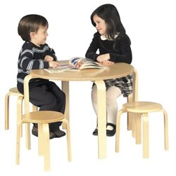 Guidecraft Nordic Wooden Natural Table and Chairs