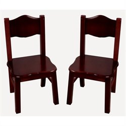 Guidecraft Classic Espresso Kids Chair (Set of 2)