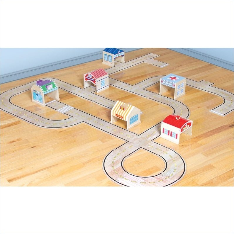 Guidecraft 42 Piece Roadway System