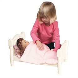 Guidecraft Doll Bed in White