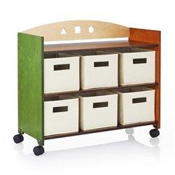 Guidecraft Rolling Storage Center in Multi-Color