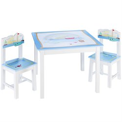 Guidecraft Table and Chairs Set in Multi-Color