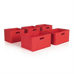 Guidecraft Bins in Red (Set of 5)