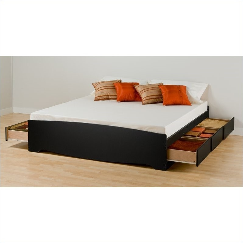 black king platform storage bed 4 piece bedroom set bsh