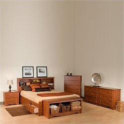Queen 4 Piece Bedroom Set in Cherry