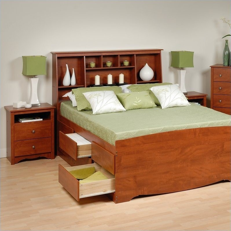 queen wood platform storage bed 3 piece bedroom set cbq 6212 3pkg