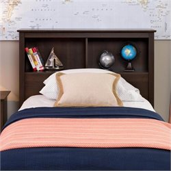 Twin Bookcase Headboard in Espresso