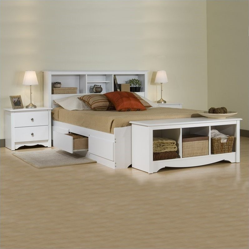 home furniture bedroom furniture bedroom sets white full platform