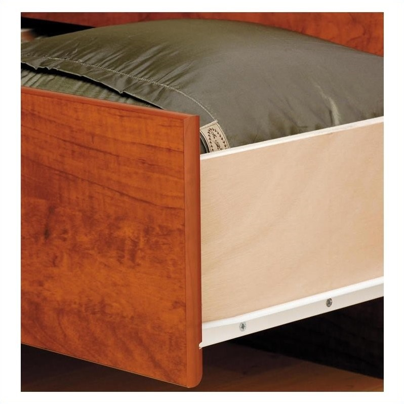 Cherry Queen Wood Platform Storage Bed 3 Piece Bedroom Set