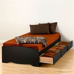Twin XL Platform Storage Bed with Drawers