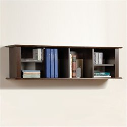 Prepac Wall Hanging Hutch in Espresso Finish