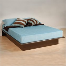 Prepac Manhattan Double / Full Size Platform Bed in Espresso Finish