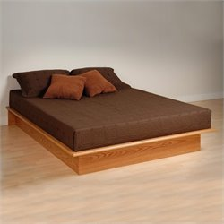 Prepac Juvenile Full Platform Bed in Oak