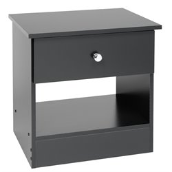 Prepac Juvenile 1 Drawer Nightstand in Black