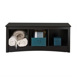 Black Cubby Bed Bench