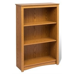 4 Shelf Wood Bookshelf in Oak