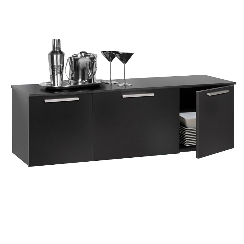 Wall Mounted Buffet in Black