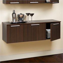 Wall Mounted Buffet in Espresso