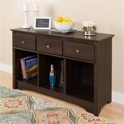 3 Drawer Console Table in Espresso Finish