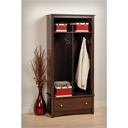 1 Drawer Double Locker in Espresso Finish