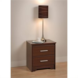 2 Drawer Nightstand in Espresso Finish