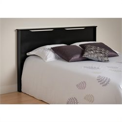 Prepac Coal Harbor Full Queen Panel Headboard in Black