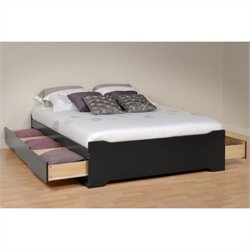 Platform Storage Bed in Black