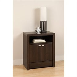 2 Door Tall Nightstand in Espresso