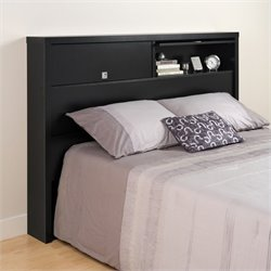 2 Door Full / Queen Bookcase Headboard in Black