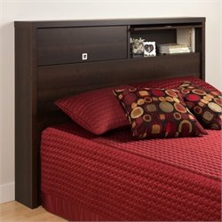 2 Door Full / Queen Bookcase Headboard in Espresso