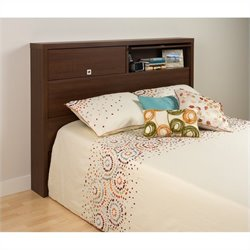 Full / Queen Bookcase Headboard in Brown