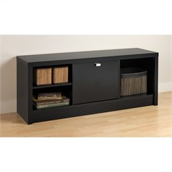 Cubbie Bench with Door in Black