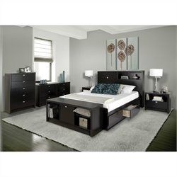 5 Piece Bedroom Set in Black