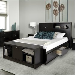 Bed and Bench in Black