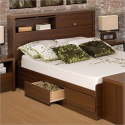 Bed in Medium Brown Walnut